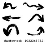grunge hand drawn vector arrows....   Shutterstock .eps vector #1032365752