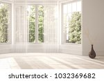 white empty room with green... | Shutterstock . vector #1032369682