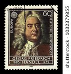 germany   circa 1985  a stamp... | Shutterstock . vector #1032379855