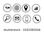 web icon set on white | Shutterstock .eps vector #1032382036