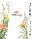 template for mother's day ... | Shutterstock .eps vector #1032382726
