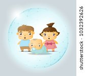 happy family concept with... | Shutterstock .eps vector #1032392626