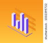 graphs  isometric flat design... | Shutterstock .eps vector #1032395722
