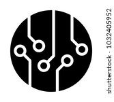 circuitboard vector icon for... | Shutterstock .eps vector #1032405952