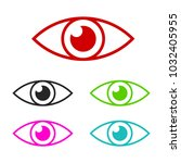 eye vector icon for web and... | Shutterstock .eps vector #1032405955