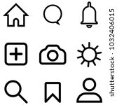 set of internet vector icon for ... | Shutterstock .eps vector #1032406015