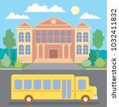 school bus. school. education... | Shutterstock .eps vector #1032411832