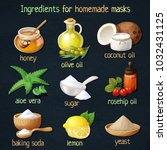 natural mask ingredients for... | Shutterstock .eps vector #1032431125