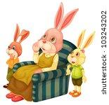 illustration of a mother bunny... | Shutterstock . vector #103243202