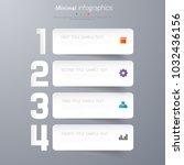 infographic template design ... | Shutterstock .eps vector #1032436156