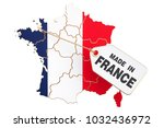 made in france concept  3d... | Shutterstock . vector #1032436972
