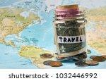 travel savings money concept.... | Shutterstock . vector #1032446992