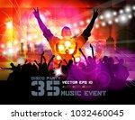 silhouette of dancing people | Shutterstock .eps vector #1032460045