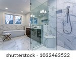 incredible master bathroom with ... | Shutterstock . vector #1032463522