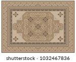 luxurious carpet design with... | Shutterstock .eps vector #1032467836