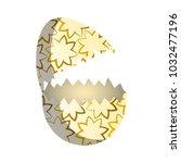 broken easter egg | Shutterstock .eps vector #1032477196