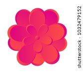 isolated flower icon | Shutterstock .eps vector #1032479152