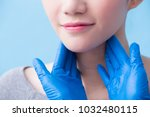 women with thyroid gland... | Shutterstock . vector #1032480115