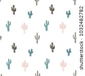 seamless pattern with llama ... | Shutterstock .eps vector #1032482782