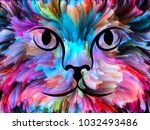 cat paint series. backdrop... | Shutterstock . vector #1032493486