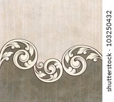 vintage scroll engraving... | Shutterstock . vector #103250432