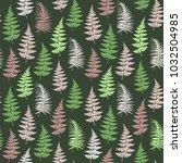 fern frond herbs  tropical... | Shutterstock .eps vector #1032504985