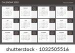 2020 calendar planner design. | Shutterstock .eps vector #1032505516