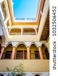 Small photo of Traditional yard of riad in Marrakesh, Morocco