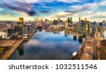 yarra river surrounded by... | Shutterstock . vector #1032511546