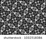 ornament with elements of black ... | Shutterstock . vector #1032518386