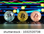 coins of cryptocurrency or... | Shutterstock . vector #1032520738
