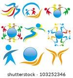 vector. friendship. icons. | Shutterstock .eps vector #103252346