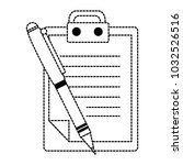 clipboard document with pen | Shutterstock .eps vector #1032526516