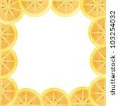 Orange lining to the frame isolated - stock photo