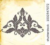 retro baroque decorations... | Shutterstock .eps vector #1032547072