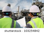 two engineer oil industry... | Shutterstock . vector #103254842