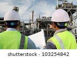 two engineer oil industry... | Shutterstock . vector #103254842