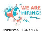 we are hiring    advertising... | Shutterstock .eps vector #1032571942