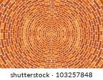 A Circular Brick Pattern...
