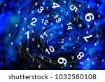 numerology in space | Shutterstock . vector #1032580108