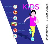 healthy lifestyle tips for kids ... | Shutterstock .eps vector #1032590026