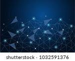 abstract global network... | Shutterstock .eps vector #1032591376