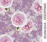 seamless pattern. decorative... | Shutterstock . vector #1032595666