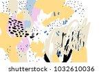 brush  marker  pencil stroke... | Shutterstock .eps vector #1032610036