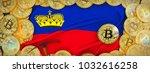 bitcoins gold around... | Shutterstock . vector #1032616258
