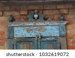 ancient shutters  old shutters  ... | Shutterstock . vector #1032619072