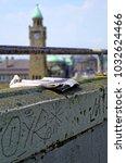 historic harbor in hamburg with ... | Shutterstock . vector #1032624466