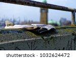 historic harbor in hamburg with ... | Shutterstock . vector #1032624472