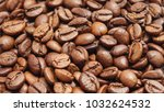 roasted coffee beans. selective ...   Shutterstock . vector #1032624532