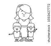 cute cartoon illustration of...   Shutterstock .eps vector #1032627772